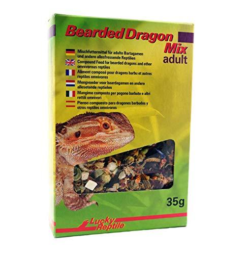 Lucky Reptile Bearded Dragon Mix Adult 35 g, Futtermittel für adulte Bartagamen und andere Reptilien