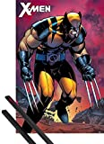 1art1 X-Men Pster (91x61 cm) Wolverine Berserker Rage Y 1 Lote De 2 Varillas Negras