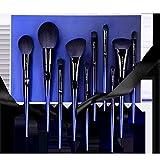 Conjunto de cepillos de maquillaje Azul Demon Ji 10 Maquillaje Cepillo Conjunto Manejo Advanced Maquillaje Conjunto Herramientas de Belleza conveniente (Color : Blue)