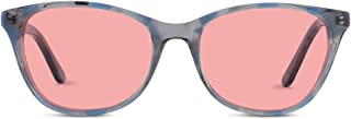 TheraSpecs Audrey Migraine Glasses for Light Sensitivity, Photophobia and Fluorescent Lights | Women | Indoor Lenses | Blue
