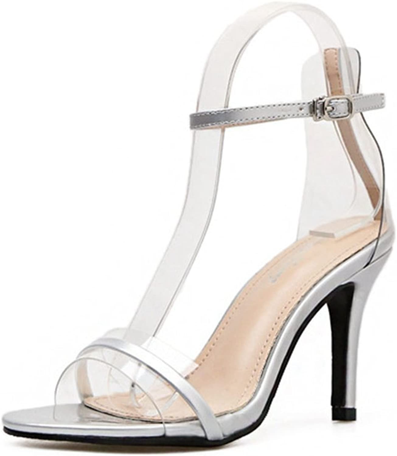 GIY Women's High Heel Sandal Open Toe Ankle Buckle Strap Stiletto Pump Sandals Dress Casual Party shoes