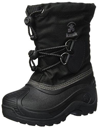Kamik SOUTHPOLE4 Schneestiefel Unisex-Kinder, Schwarz (Black), 37 EU