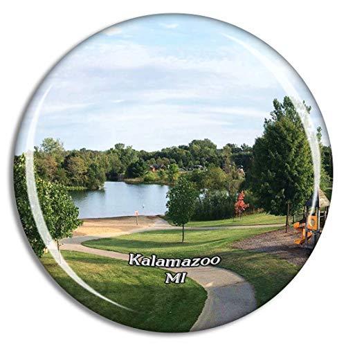 Weekino Kalamazoo Park Michigan Estados Unidos Imán de Nevera 3D de Cristal de la Ciudad de Viaje Recuerdo Colección de Regalo Fuerte Etiqueta Engomada refrigerador