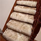 Hududuo Alfombra antideslizante para escaleras, 24 x 65 cm, suave...