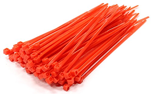 100 Rojo Bridas, Nailon, 100 mm x 2,5 mm
