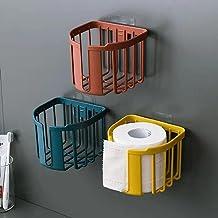 Toiletpapierrolhouder, Moderne Tissue Roll Dispenser Rond voor Badkamer Keuken Wasruimte -rood