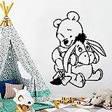yaonuli Belleza Oso Vinilo calcomanía Etiqueta de la Pared decoración Sala de Estar Dormitorio extraíble 42X70cm