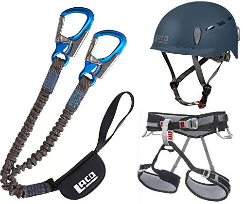 LACD Klettersteigset Pro + Klettergurt Start Größe M + Helm Protector 2.0...