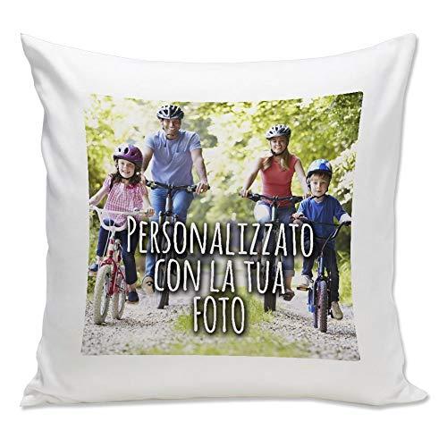Cuscino Personalizzato con Foto - Quadrato 40 x 40 cm - Bianco, 40x40 cm - con Imbottitura