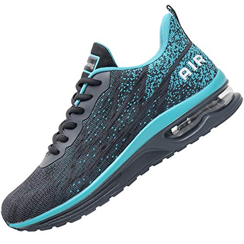 Impdoo Mens Air Athletic Running Sneaker Cute Fitness Sport Gym Jogging Tennis Shoes (Graygreen US 10 B(M)
