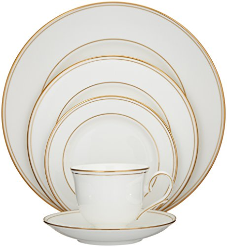 Lenox Federal Gold 5-Piece Place Setting, White