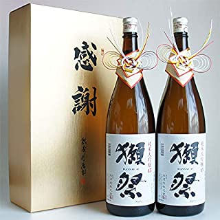 感謝ギフト箱入り!獺祭 純米大吟醸45 1800mlの2本組 旭酒造 山口県