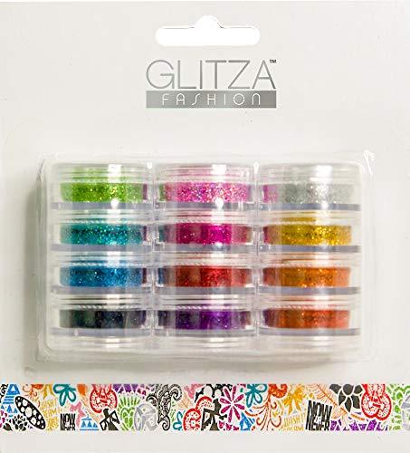 Knorrtoys GL7995 Glitter Fashion Lot de 12 boîtes de poudre pailletée dans différentes couleurs
