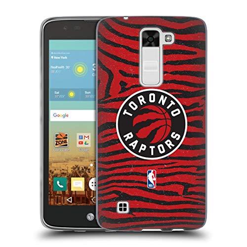 Head Case Designs Oficial NBA Estampado Animal de Cebra Toronto Raptors 3 Carcasa de Gel de Silicona Compatible con LG K7 K330 / Tribute 5
