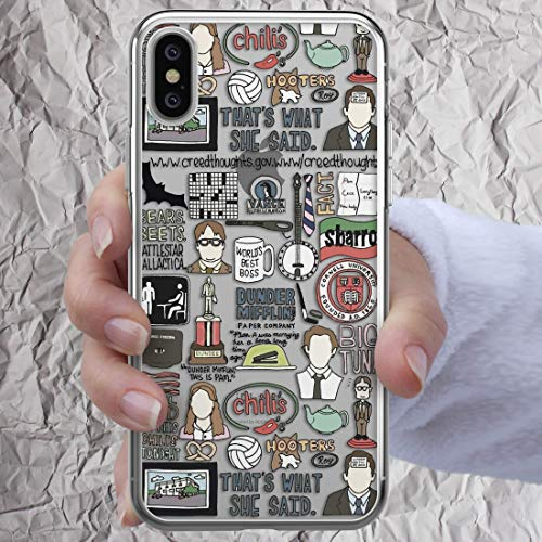 Dunder Mifflin Coffee Mug The Office Phone Case Dwight Schrute Glasses Badge Michael Scott Quote iPhone 11 Pro 7 8 6 6s plus X Xs Max Xr 5s se Gifts Worlds Best Boss Schrute Farms Beets Clear Cover