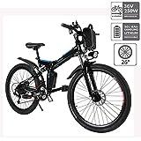 cooshional Bicicleta Eléctrica Plegable de Montaña con la Batería de Iones de Litio 36V...