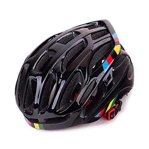 ASDFY Casco de Bicicleta para Adultos, cómodo y Transpirable, Casco de montaña de Carretera, Casco de Ciclismo de una Pieza, Casco de Ciclismo de Carreras Ultraligero