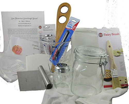 Organic San Francisco Sourdough Starter Expert Baker Bread Maker Tool Kit