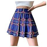 Sunnyuk- Mujer Deportivo Corto Falda Plisada A-Line Mini Skorts de Tennis Golf con Bolsillos Interiores para Shorts,Vestido de Playa para Mujer