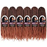 Toyo Tress Ombre Brown Marley Hair For Twists 18 Inch 6packs Long Afro...