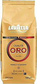 Lavazza Café en Grano, Qualità Oro Perfect Symphony, Café Espresso 100% Arábica Redondo y Aromático, Paquete de 500 g