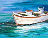 Posterazzi Collection The Row Boat That Could Poster Print by Jane Slivka (10 x 8)