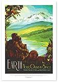 "Nukular Kunstdruck Poster A3 ""Earth – Your Oasis in"