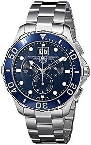TAG Heuer Men's CAN1011BA0821 Aquaracer Blue Dial Watch image