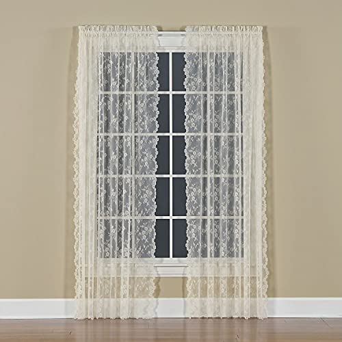 SKL HOME by Saturday Knight Ltd. Petite Fleur Curtain Panel, Ivory, 56 inches x 84 inches