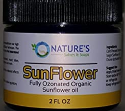 Nature's Salves and Soaps 100% Fully Ozonated Unrefined Organic Sunflower Oil - 2 Oz Glass Jar