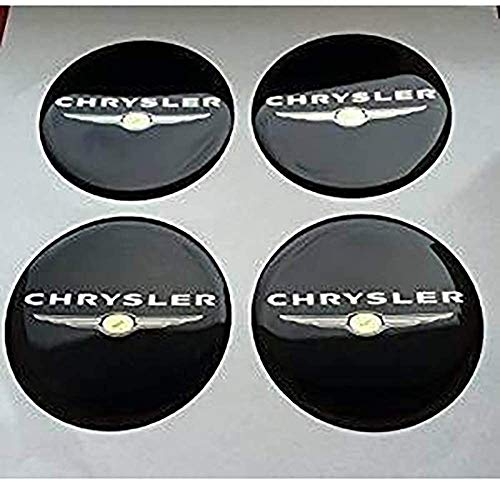 goodsmix 4 Piezas Tapas centrales para Llantas, para Chrysler, 60mm Neumáticos Tapacubos...