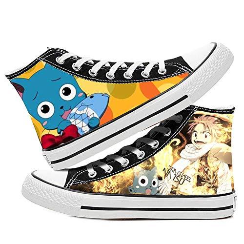 Fairy Tail Natsu Lucy Happy Gray Cosplay Zapatos de traje de lona Zapatillas de deporte, (Cuadro 13), 34 EU
