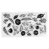 Sellos claros Cuenta de bricolaje Scrapbook Transparente Tema de la flor de mariposa Sello aferrado Álbum de fotos Tarjeta que hace la decoración
