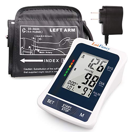 LotFancy Blood Pressure Monitor, Automatic BP Cuff (8.6-14.2