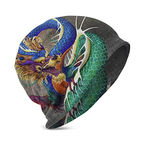 FONDSILVER Chinese Dragon Noble Monster Chinoiserie Unisex Kids Beanie Caps Skull Cap Fashion Turban Headband Knitted Ski Hat for Boys Girls