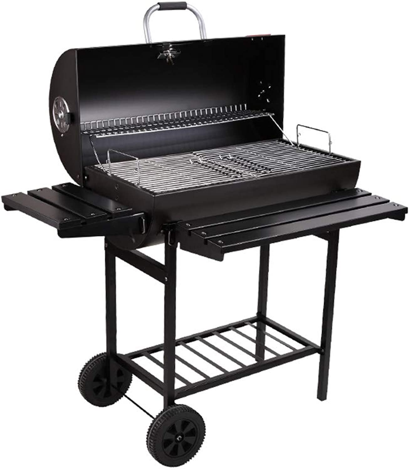 Grill Charcoal Barbecue Grill Outdoor Pit Patio Backyard Home Meat Cooker Smoker with Offset Smoker,a