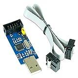 Paradisetronic.com USBasp 3,3V 5V Programmiergerät inkl. Kabel, USB ISP Programmer für Atmel AVR und Arduino