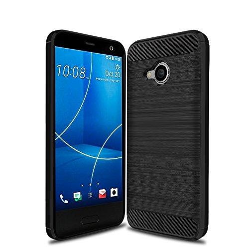 NALIA Handyhülle kompatibel mit HTC U11 Life, Ultra-Slim Silikon Case Cover, Dünne Crystal Phone Schutzhülle, Etui Hülle Handy-Tasche Backcover Bumper, TPU Smartphone Gummihülle - Schwarz