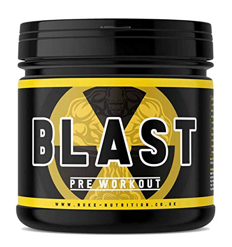Nuke Nutrition Pre - Workout Powder | 50 Servings | Vegan Fruit Punch Flavoured Supplement | Boost Energy with Our Protein Preworkout Powder | Contains L - Citrulline Malate, Beta Alanine & Caffeine