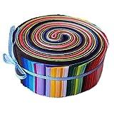 yuj Rollo de jalea para tela de acolchado Color liso Tipo de tira de tela de algodón 0X30cm Patchwork tela de acolchado