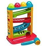 Tippi Pound a Ball Racer - Juguete para soltar Bolas para bebés o niños pequeños - Martillo y 4 Pelotas de Juego - Adecuado a Partir de 12 Meses +