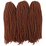 Afro Kinky Twist Crochet Hair Braids Marley Braid Hair 18inch Senegalese Curly Crochet Synthetic Braiding Hair (#350)