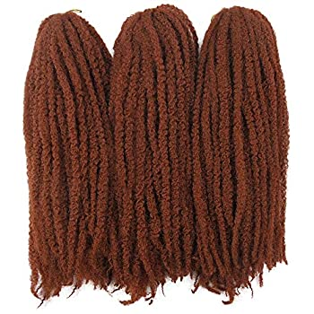 Afro Kinky Twist Crochet Hair Braids Marley Braid Hair 18inch Senegalese Curly Crochet Synthetic Braiding Hair  #350