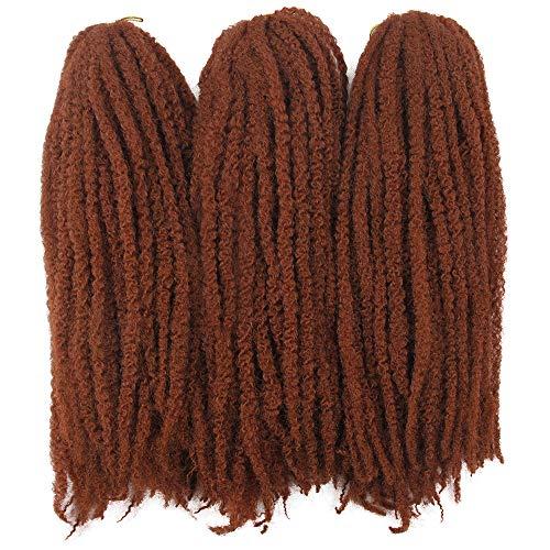Afro Kinky Twist Crochet Hair Braids Marley Braid Hair 18inch Senegalese Curly Crochet Synthetic Braiding Hair (#350)