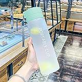 Bottiglia di acqua sportiva in plastica da 600/800 ml, grande capacità, per esterni, opaca, per uomini, donne, bambini, studenti, per tazze, 800 ml, bottiglia d'acqua 03