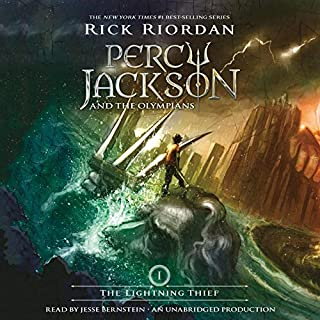 The Lightning Thief     Percy Jackson and the Olympians, Book 1              By:                                                                                                                                 Rick Riordan                               Narrated by:                                                                                                                                 Jesse Bernstein                      Length: 10 hrs and 2 mins     13,186 ratings     Overall 4.5