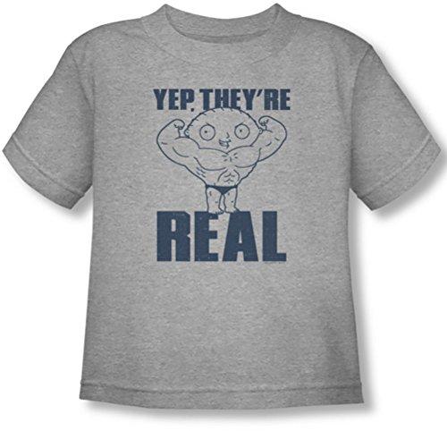 Family Guy - Niño real Build camiseta, 4T, Athletic Heather