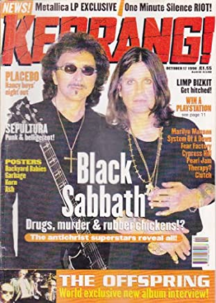 KERRANG MAGAZINE BACK ISSUE 721 BLACK SABBATH - SEPULTURA - LIMP BIZKIT - THE OFFSPRING - MARILYN MANSON
