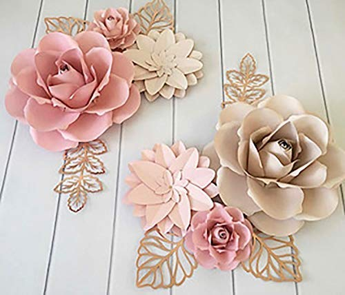 Bubbapaint 3d Paper Flower Decorations For Wall Backdrop For Decor Giant Size Pre Assembled Flower Girld Nursery Wall Decor Party Decor Wendding Bridal Shower Birthday Rooms Amazon Ca Handmade