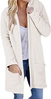 Womens Fashion Long Sleeve Open Front Hoodie Knit Cardigan Coat